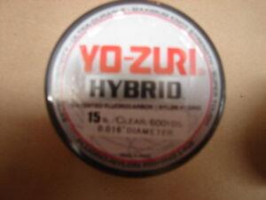Yo-Zuri Hybrid Fluorocarbon 15 lb. 600yd Clear R658-CL Fishing Line 15lb. 600 yd
