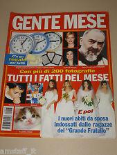 GENTE MESE=2002//3=ELEONORA DANIELE=TATI ALBERO=LALLA SEMPIO=LUANA SPAGNOLO=