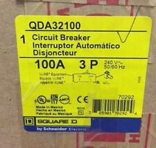 BRAND NEW SquareD-Type QDA  QDA32100  3Pole 100Amps 240Volt I-Line FREE Shipping