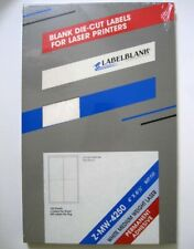 "LabelBlank ® Z-MW-4250 100 Sheets 4"" X 6-1/2"" Laser Printer Die Cut Labels - New"
