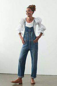 NEW Anthropologie $158 Pilcro The Painters Denim Overalls Size 27
