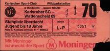 Ticket II. BL 85/86 Karlsruher SC - SG Wattenscheid 09