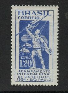 BRAZIL 1954  International Scout Encampment, Sao Paulo.  LHM