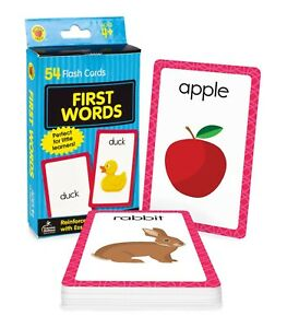 First Words Flash Cards for Kids Brighter Child Baby Preschool Toddlers Alphabet