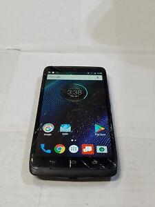 Motorola Droid Turbo, 64GB, Black (Unlocked) Cracked Screen :D104