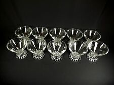 VINTAGE SET OF 10 CLEAR BEADED BOOPIE SHERBET CHAMPAGNE GLASSES