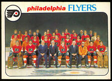 1978 79 OPC O PEE CHEE 203 PHILADELPHIA FLYERS TEAM NM UNMARKED HOCKEY CARD
