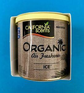 California Scents ICE Large Organic Car Air Freshener Freshner