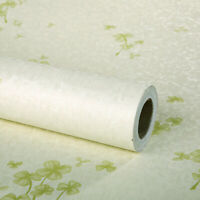Beige Clover Peel and Stick Wallpaper Self Adhesive Film Contact Paper Decor PVC