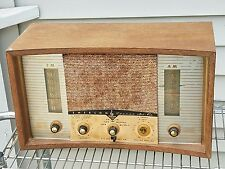 Vintage Emerson Model 908 AM/FM/PHONO/STEREO HIFI Art Deco Wooden Tube Radio