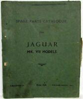 1950-1954 Jaguar Mark VII Spare Parts Book List Manual Catalogue - Amended List