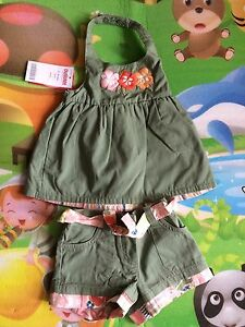 NWT Gymboree Beach Shack  2 Pc Set Outfit Sz 3-6 Months