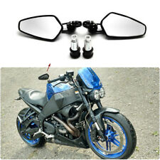 """US Black 7/8"""" 22mm Handle Bar End Rear-View Mirrors For Buell Lightning XB9 XB12"""