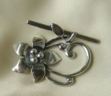 Fancy Flower Togggle Clasp Sterling silver Focal clasp