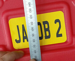 TELL US YOUR SIZES * Custom Kids Car Number Plate Sticker - upto 215 x 105mm