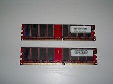 KIT RAM 1GB (2x512Mb=1Gb) DDR400 Memoria Desktop 184pin DDR DDR1 PC3200 400Mhz