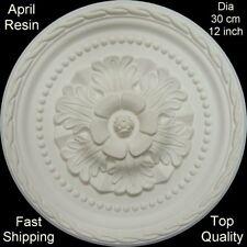 Ceiling Rose April Resin Strong Lightweight Design Not Polystyrene Easy Fix 30cm