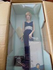 princess diana doll porcelain new in shipper coa