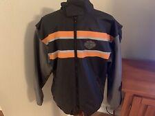 Harley Davidson Motorcycles Reflective PVC Rain Coat Jacket Mens size Medium