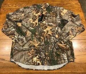 Under Armour Hunting Realtree Xtra L/S Button Front Shirt Men's L Large  NWT New