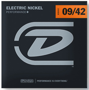 Dunlop DEN0942 Electric Nickel Wound Guitar Strings. Gauge: 9-42
