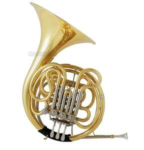 Professional JINBAO Gold F/Bb 4 Key Double French Horn Cupronickel Leadpipe+Case