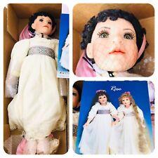 "24"" Original Porcelain Doll - Rose Dark Brown Green by Marilyn Bolden New in Box"