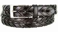 BL039 Arrow Braided Woven Braided Genuine Leather Dress Belt