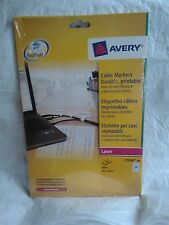 SEALED Avery L7950-20 Printable Cable Marker Labels for Laser Printers - White