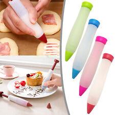 Cream Piping Pens Dessert Cup Cake Decorating Nozzles Pen DIY Cream Squeeze Mold