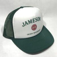 dd15809273a Jameson Irish Whiskey Trucker Hat Vintage Snapback Part Cap Original Dark  Green