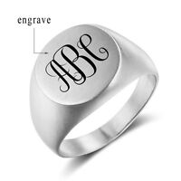 Personalized Stainless Steel Rings Men Punk Rings Birthday Gift For Boyfriend