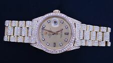 11.00 Carat White Diamonds Iced Out Rolex Day Date President Gold Watch ASAAR