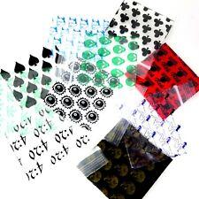 """1.5"""" x 1.5"""" Apple Baggies 1515 100 Pack Printed Design Zip Lock Bags - You Pick"""