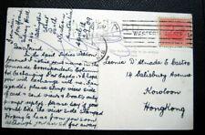 AUSTRALIA PC CANCEL  WESTERN AUSTRALIA  PERTH 1909 TO HONG KONG