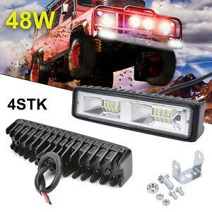 4x48W LED Fernscheinwerfer Arbeitsscheinwerfer 12V  PKW LKW SUV Auto Anhänger