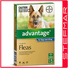 Advantage for Dogs Over 25Kg Xlarge Blue 4Pack