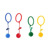 4 Pieces Skip Ball Jumping Toy w/ Ankle Ring Kids Outdoor Exercise Equipment