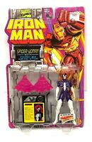 Marvel Comics Spider-Woman Iron Man Action Figure Toy Biz Vtg NEW