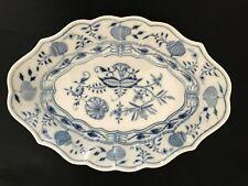 """RARE Antique Meissen-German Porcelain -Blue Onion Oval RELISH DISH - 10 1/2"""""""