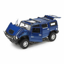 Hummer H2 Model Cars 1:32 Alloy Diecast Off-road Vehicles Sound&Light Gifts Blue