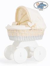 My Sweet Baby - Isabella White Wicker Crib Moses Basket - Cream