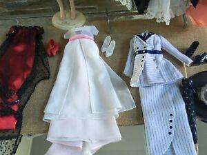 LOT of 3 Franklin Mint TITANIC Rose Doll JUMP, SWIM & BOARDING DRESSES + SHOES