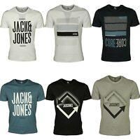 Brand New Jack and Jones Logo Printed Crew Neck Short Sleeve T-Shirt For Men