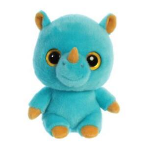 "AURORA Yoohoo & Friends Plush Toy 5"" -  Rino the Rhinoceros - 61090 - New"
