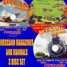 Massive & complete MECCANO MAGAZINE COLLECTION + 400 manuels/plans 3 DVD Set NEW
