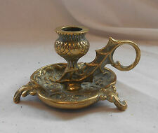 Rare VINTAGE Retro SOLID BRASS Traditional CANDLESTICK Candle Holder DECORATIVE