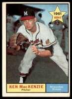 1961 Topps Ken MacKenzie Rookie Atlanta Braves #496