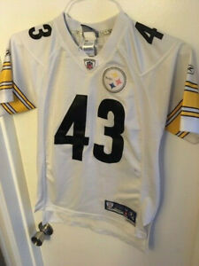 PITTSBURGH STEELERS REEBOK TROY POLAMALU #43 JERSEY -STITCHED - YOUTH M (10-12)