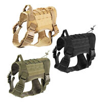 Tactical Training Dog Harness Military Adjustable Molle Nylon Vest Police K9 M/L